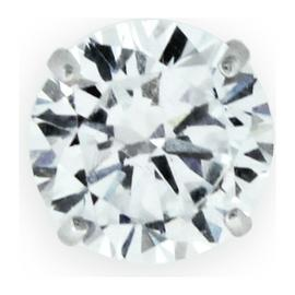 Revere Men's 9ct White Gold Cubic Zirconia Stud Earring