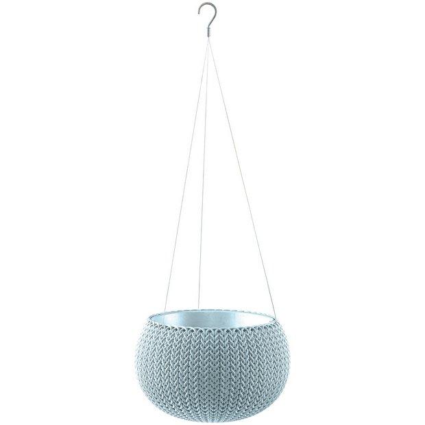buy keter knit hanging basket misty blue at. Black Bedroom Furniture Sets. Home Design Ideas