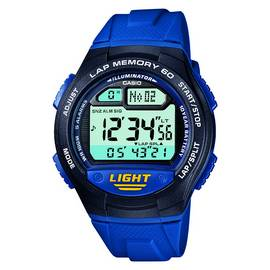 Casio Men's 60 Lap Memory Blue Resin Strap Watch
