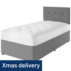 Airsprung Dalham Grey Memory Divan Bed - Single