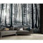 more details on 1Wall Black and White Forest Wall Mural.