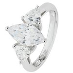 more details on Platinum Plated Silver 2.70ct Look CZ Marquise Ring.