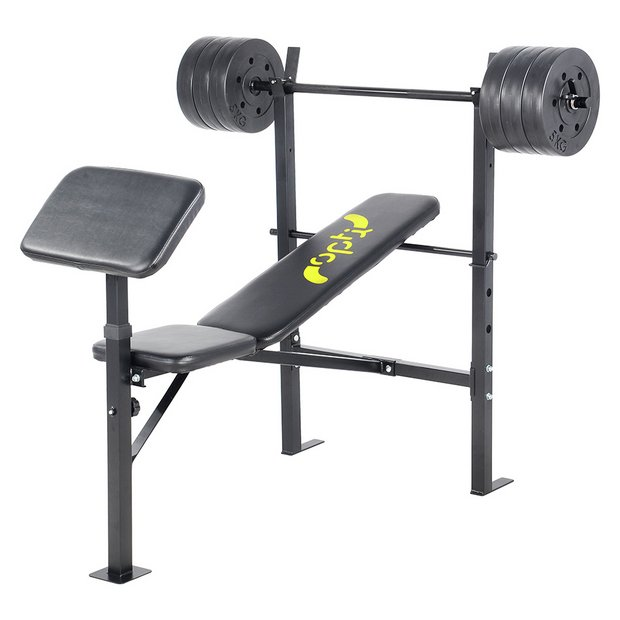Buy Opti Bench With 30kg Weights Weight Benches Argos