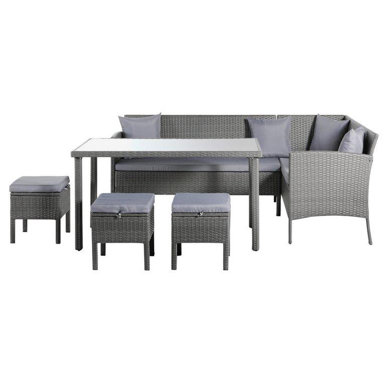 Garden Furniture 8 Seater buy home 8 seater rattan effect corner dining set at argos.co.uk