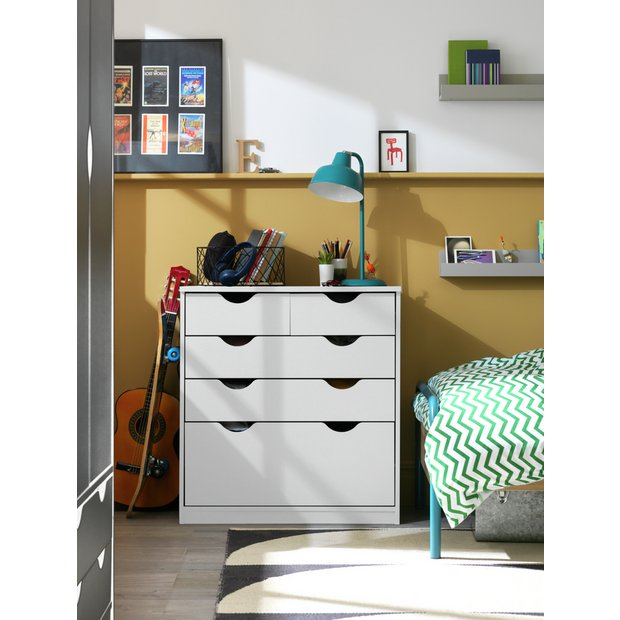 buy home new pagnell deep 3 2 drawer chest white at. Black Bedroom Furniture Sets. Home Design Ideas