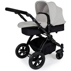 Iclkle Bubba Stomp V2 2 in 1 Pushchair - Silver and Black