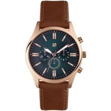 Spirit Men's Brown Faux Leather Strap Watch