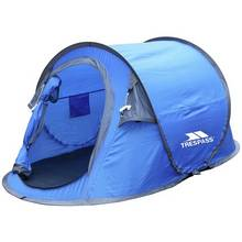 Trespass 2 Man 1 Room Pop Up Tent - Blue Grey