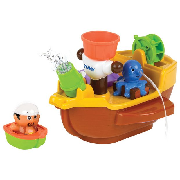 buy tomy pirate ship bath toy at your online shop for baby bath toys and books. Black Bedroom Furniture Sets. Home Design Ideas