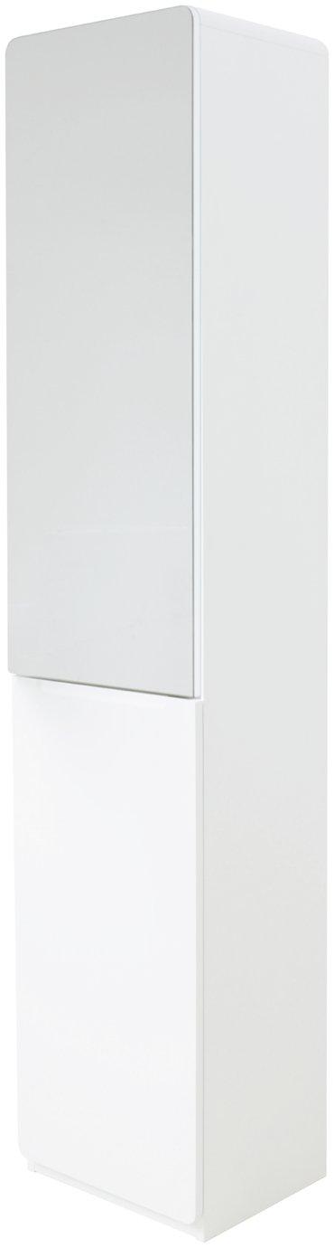 Hygena Curve Tall Bathroom Cabinet   White