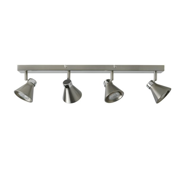 Switched Chandelier Wall Lights : Buy Collection Burnley 4 Light Brushed Chrome/Chrome Spotlight at Argos.co.uk - Your Online Shop ...