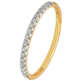 Revere 9ct Yellow Gold 0.15ct Diamond Claw Set Eternity Ring