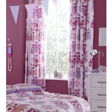 Catherine Lansfield Owl Curtains - 168x183cm - Pink.