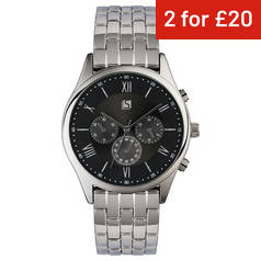 ad8bf4b19ef Spirit Men s Silver Stainless Steel Bracelet Watch