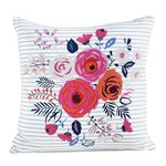 more details on Collection Phoebe Striped Floral Cushion.