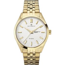 Accurist Men's Gold Plated Stainless Steel Bracelet Watch