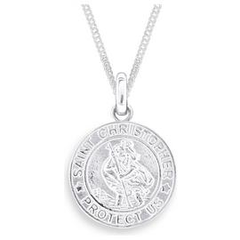 Revere Men's Sterling Silver St. Christopher Pendant