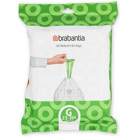 Brabantia 30 Litre Perfect Fit Bin Bags Size G - Pack of 40