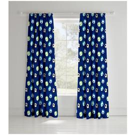 Catherine Lansfield Football Kid's Curtains - 165cmx180cm