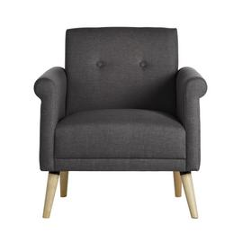 Habitat Evie Fabric Armchair in a Box - Charcoal