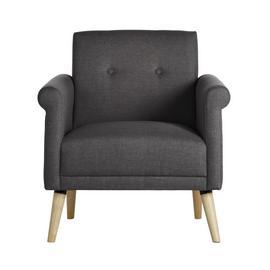 Habitat Evie Fabric Armchair in a Box - Charcoal