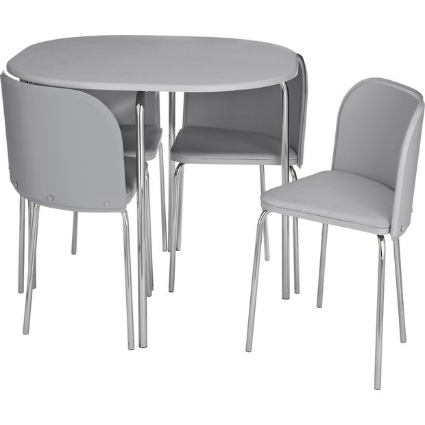 Hygena Amparo Space Saving Dining Table 4 Chairs