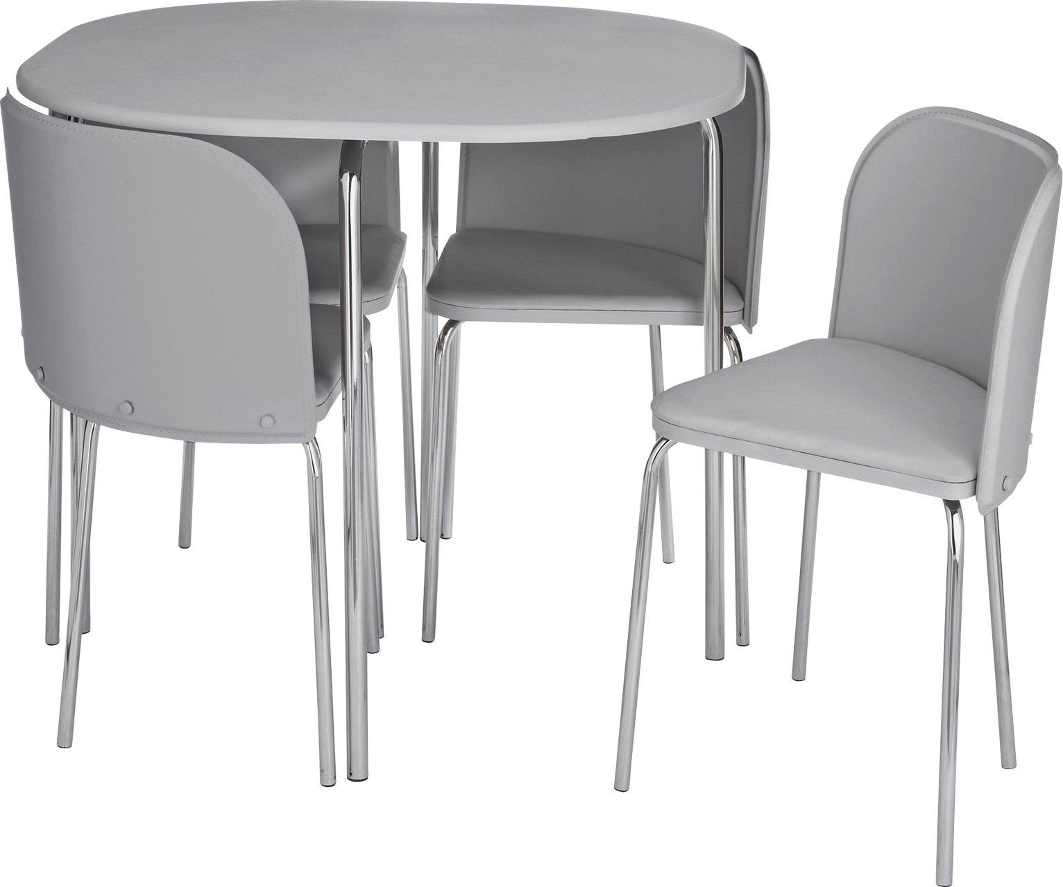 Argos Home Amparo Dining Table Chairs White