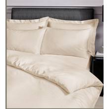 Catherine Lansfield Cream Satin Stripe Bedding Set - Double