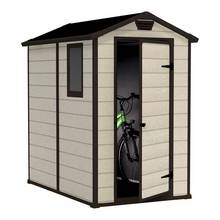 keter manor plastic beige brown garden shed 4 x 6ft - Garden Sheds Edinburgh