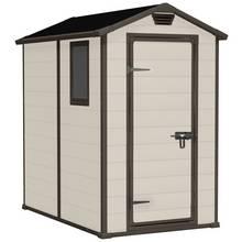 Keter Manor Apex Garden Storage Shed 4 x 6ft – Beige/Brown