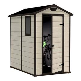 Keter Manor Apex Garden Storage Shed 4 x 6ft – Beige/Brown