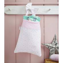 Clair De Lune Stars & Stripes Cot Pocket - Pink.