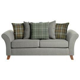 Argos Home Kayla 3 Seat Scatter Back Fabric Sofa -Light Grey