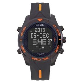 Pulsar Men's Black Stainless Steel Digital Watch