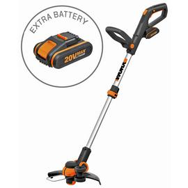 WORX WG163E 18V 20V MAX Cordless Grass Trimmer - 2 Batteries
