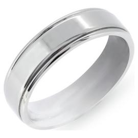 Revere Men's Titanium Brushed Ring Boxed