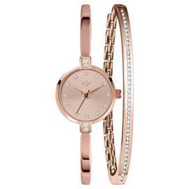 50a1ac4a304 Spirit Ladies  Rose Colour Stone Set Watch and Bracelet Set