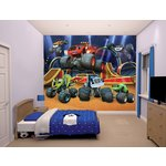 more details on Nickelodeon Blaze and the Monster Machine Mural.