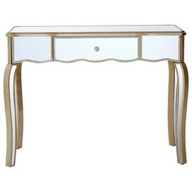 Premier Housewares Tiffany Mirror Finish Dressing Table.