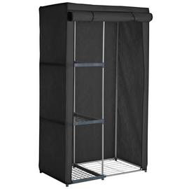 Argos Home Metal and Polycotton Single Wardrobe - Black