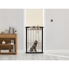 Extra Tall Pressure Fit Pet Gate - Black