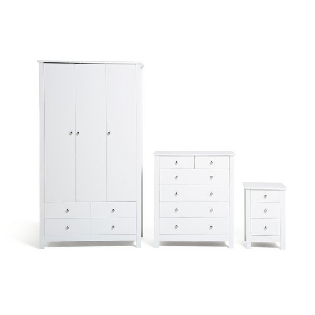 Buy Collection Osaka 3 Piece Bedroom Furniture Package White At Your Online Shop