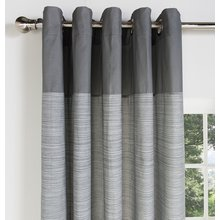 HOME Norfolk Unlined Eyelet Curtains - 117x137cm - Charcoal