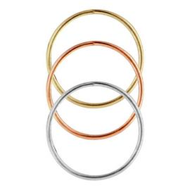 State of Mine 9ct Multi-coloured Gold Nose Hoops - Set of 3