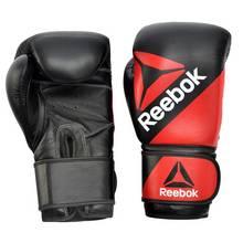 Reebok 14oz Leather Training Gloves - Black/Red