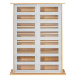 Argos Home York Sliding Door Glass Media Unit - Oak Effect