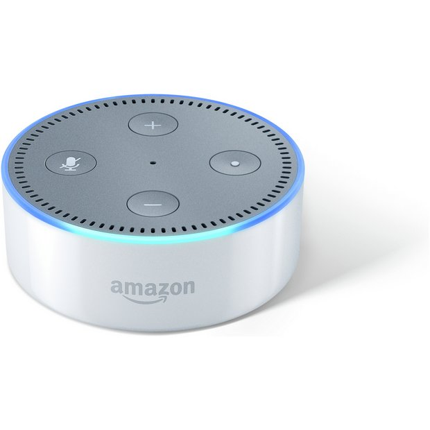 buy amazon echo dot multimedia speaker white at. Black Bedroom Furniture Sets. Home Design Ideas