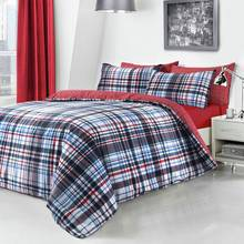 Pieridae Blue Checked Bedding Set - Kingsize