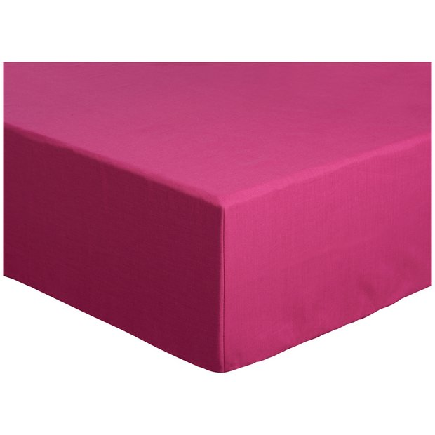 buy colourmatch funky fuchsia fitted sheet kingsize at. Black Bedroom Furniture Sets. Home Design Ideas