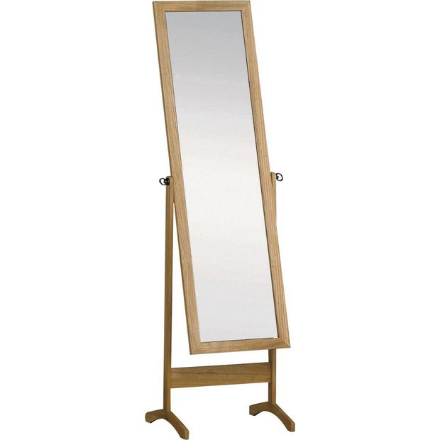 Buy Home Wooden Full Length Cheval Mirror Oak Effect At